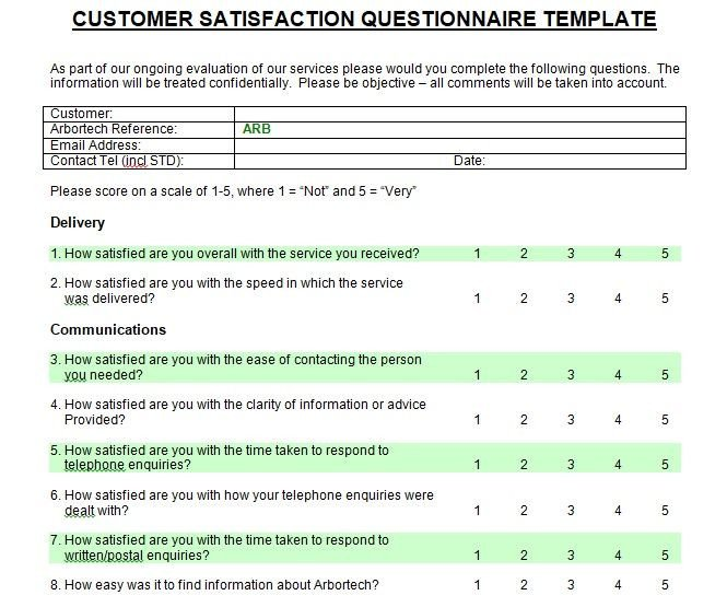 Customer Satisfaction Survey Template Word Printable Customer Satisfaction Survey Template Microsoft