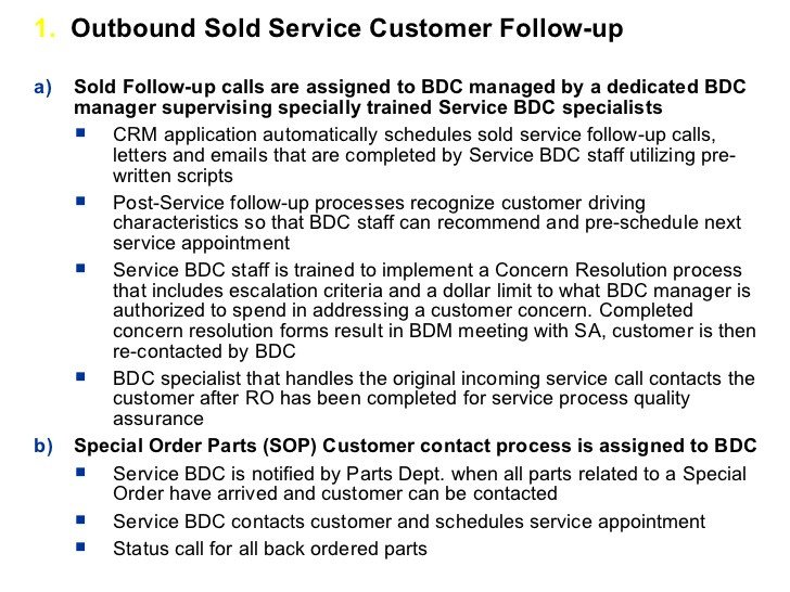 Customer Service Scripts Templates Crm Process Implementation for Car Dealers