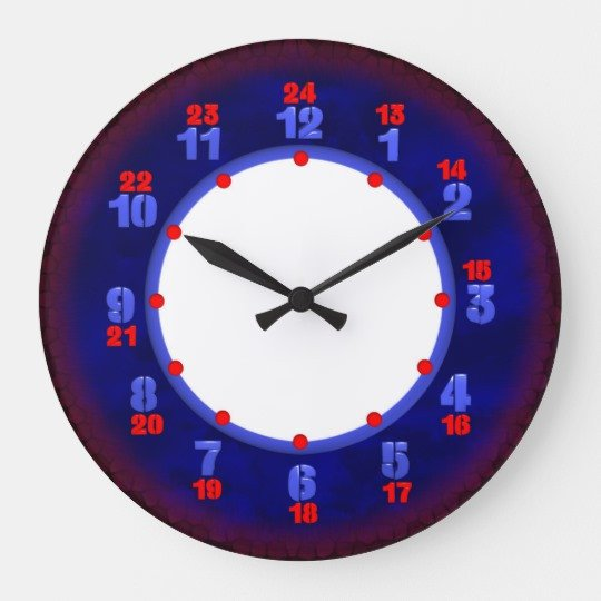 Customizable Clock Face Template 24 Hour Military Time Clock Template