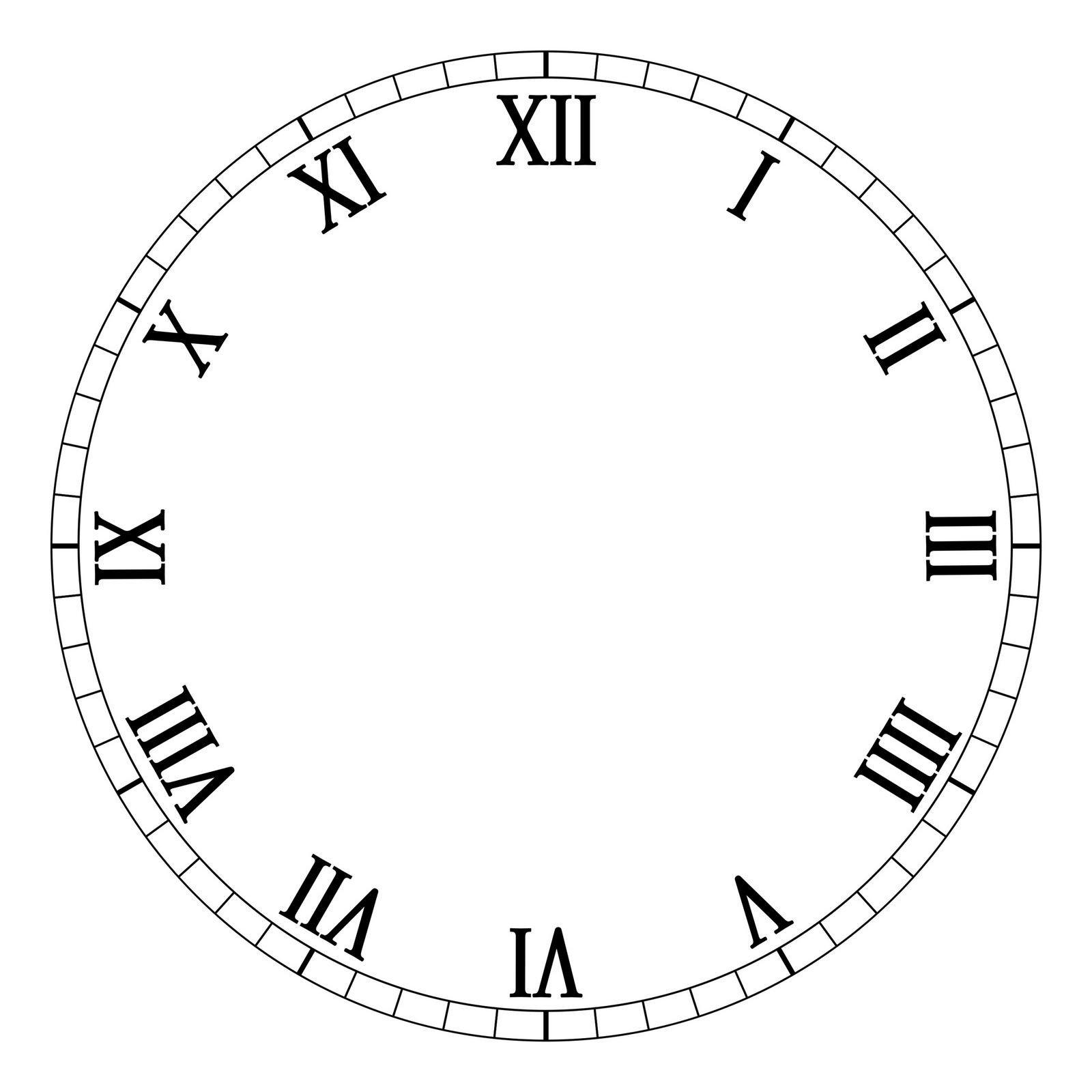 Customizable Clock Face Template Carte Per Decoupage Free Quadranti Per orologi Manifantasia