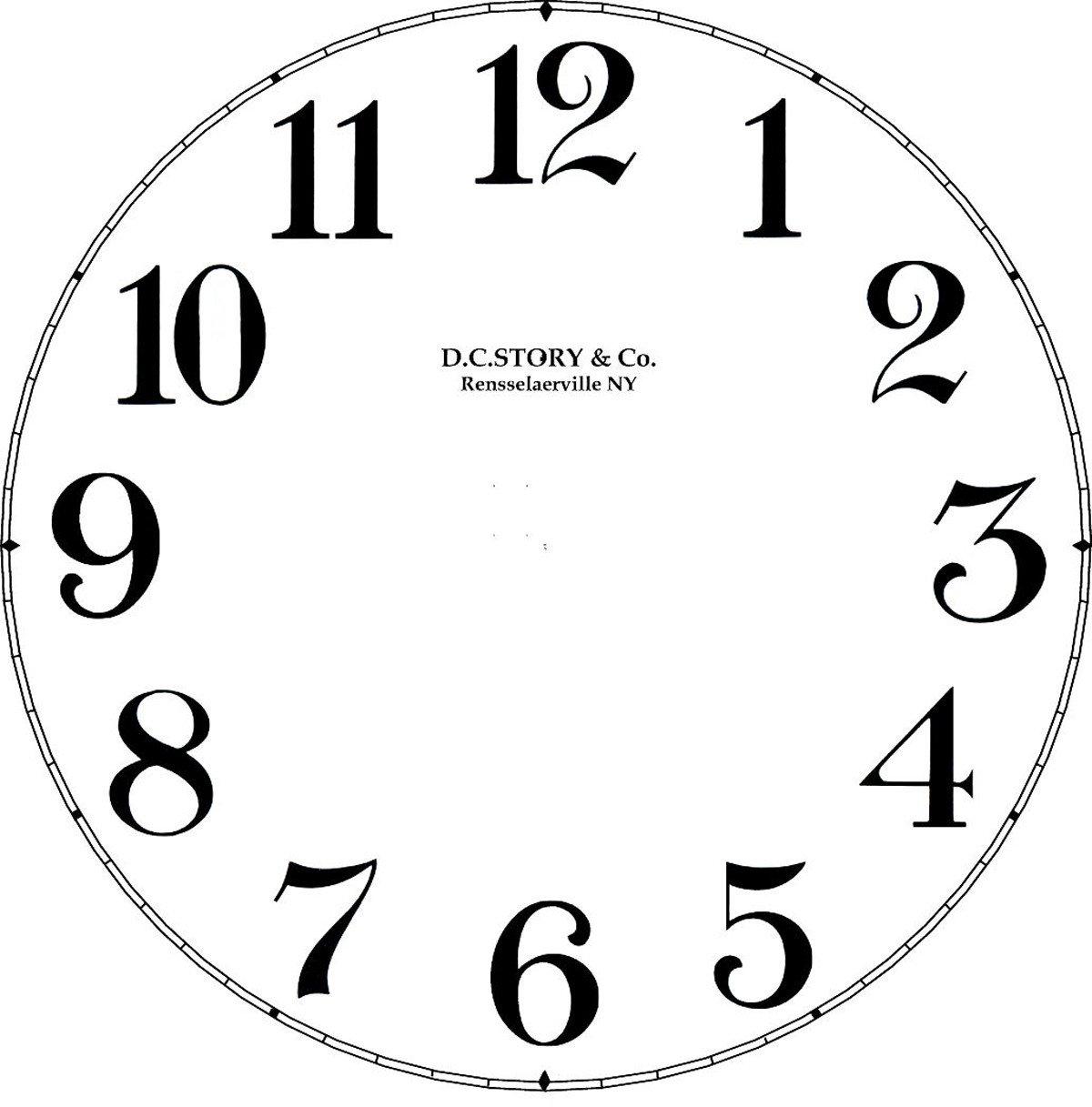 Customizable Clock Face Template Clock Decal