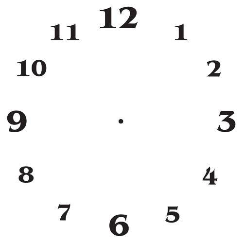 Customizable Clock Face Template Clock Face Templates – Free