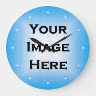 Customizable Clock Face Template Custom Clock with White Dots