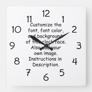 Customizable Clock Face Template Customize Font Font Color Background Image Round Clocks
