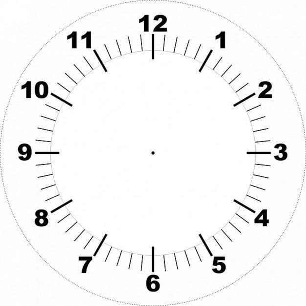 Customizable Clock Face Template Face Printable Clock