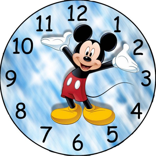 Customizable Clock Face Template Free Mickey Mouse Custom Clock Face Image Other Cameras