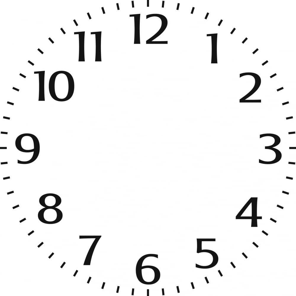 "Customizable Clock Face Template Indigoblu Stencil Small Clock Face 6"" X 6"" Indigoblu"