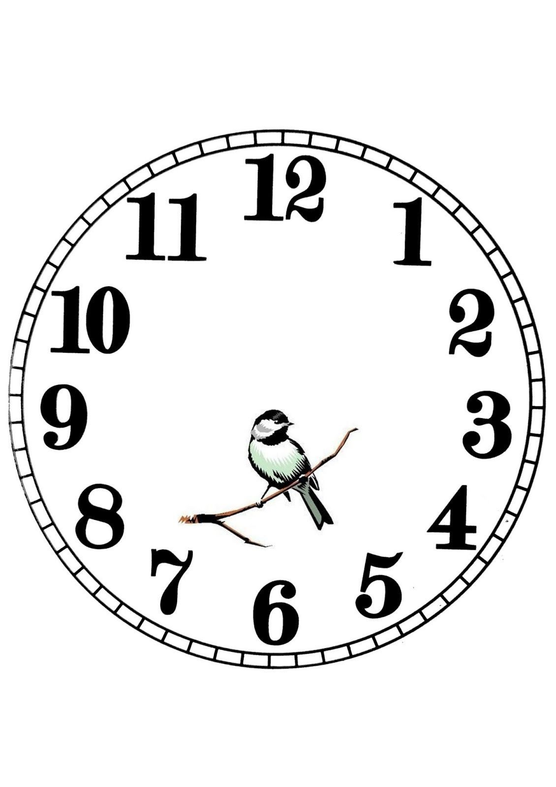 Customizable Clock Face Template Pin De Deirdre P Em Printables Transfers Monotone