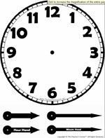 Customizable Clock Face Template This Telling Time Worksheet Maker Will Generate A