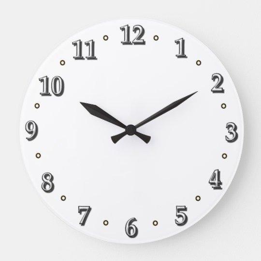 Customizable Clock Face Template White Numbers Clock Face Template