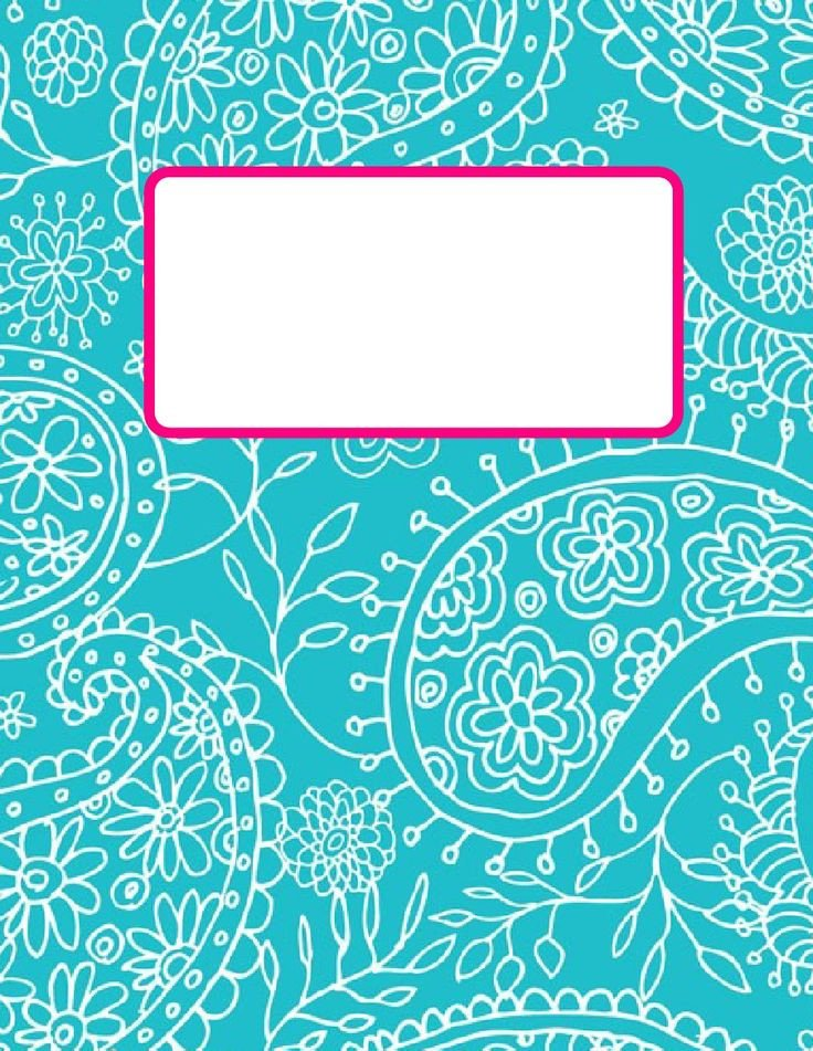 Cute Binder Cover Templates Printable Turquiouse Paisley 2012 2013 Teacher Bindercover
