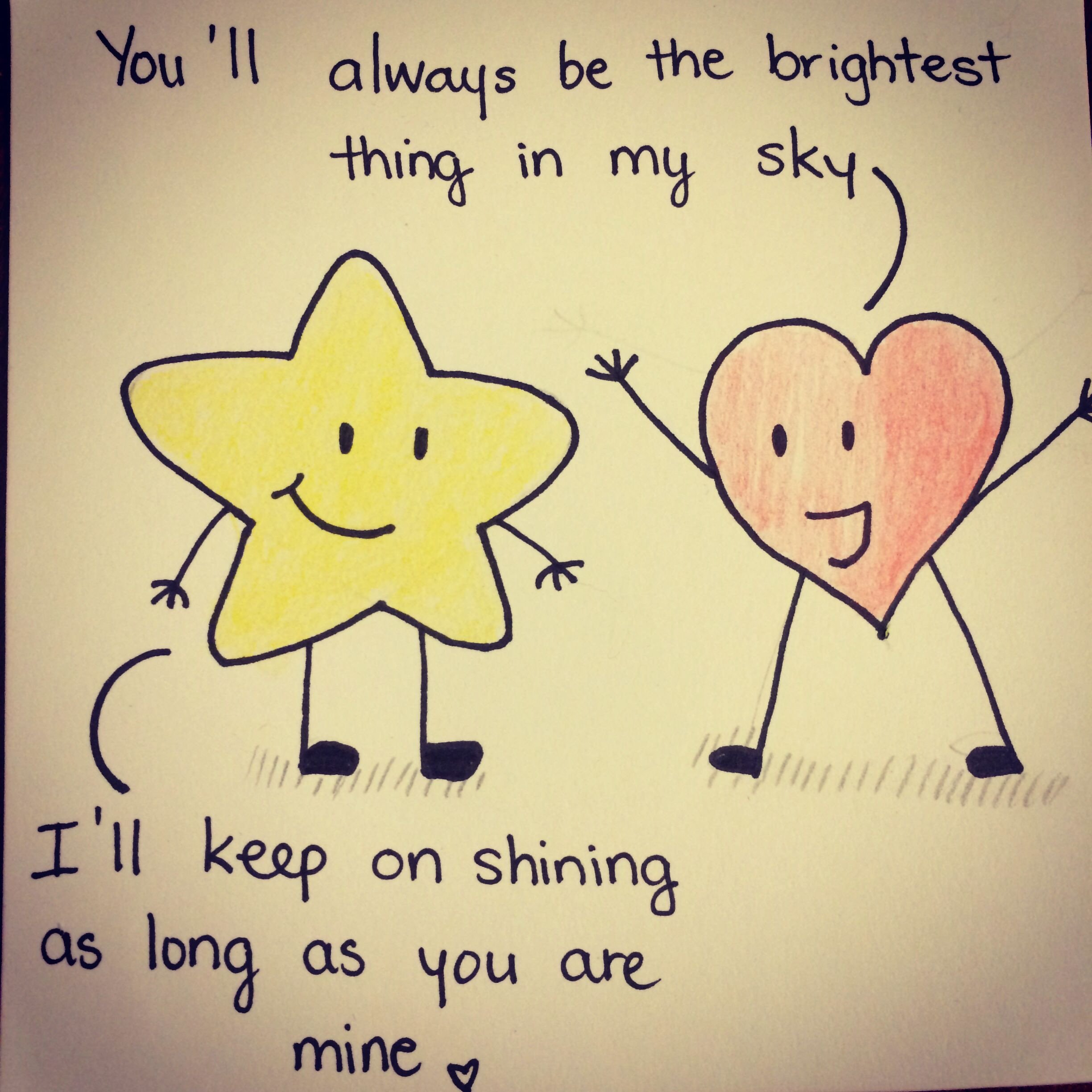 Cute Drawings for Him Cute Drawing Quotes and Drawings Pinterest