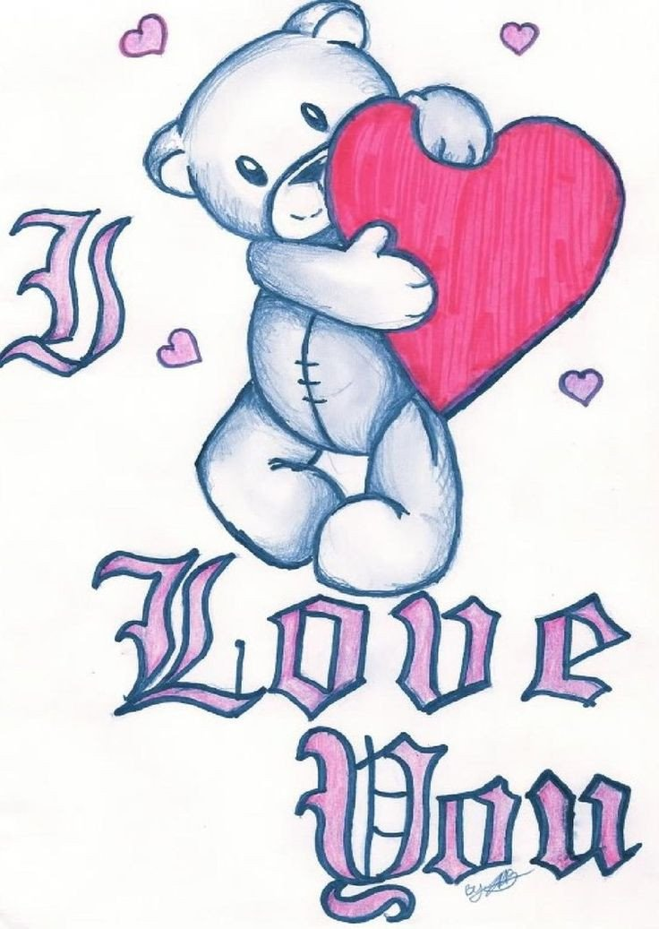 Cute Drawings for Him I Love You Clip Art Love You by Jazzy Girl21