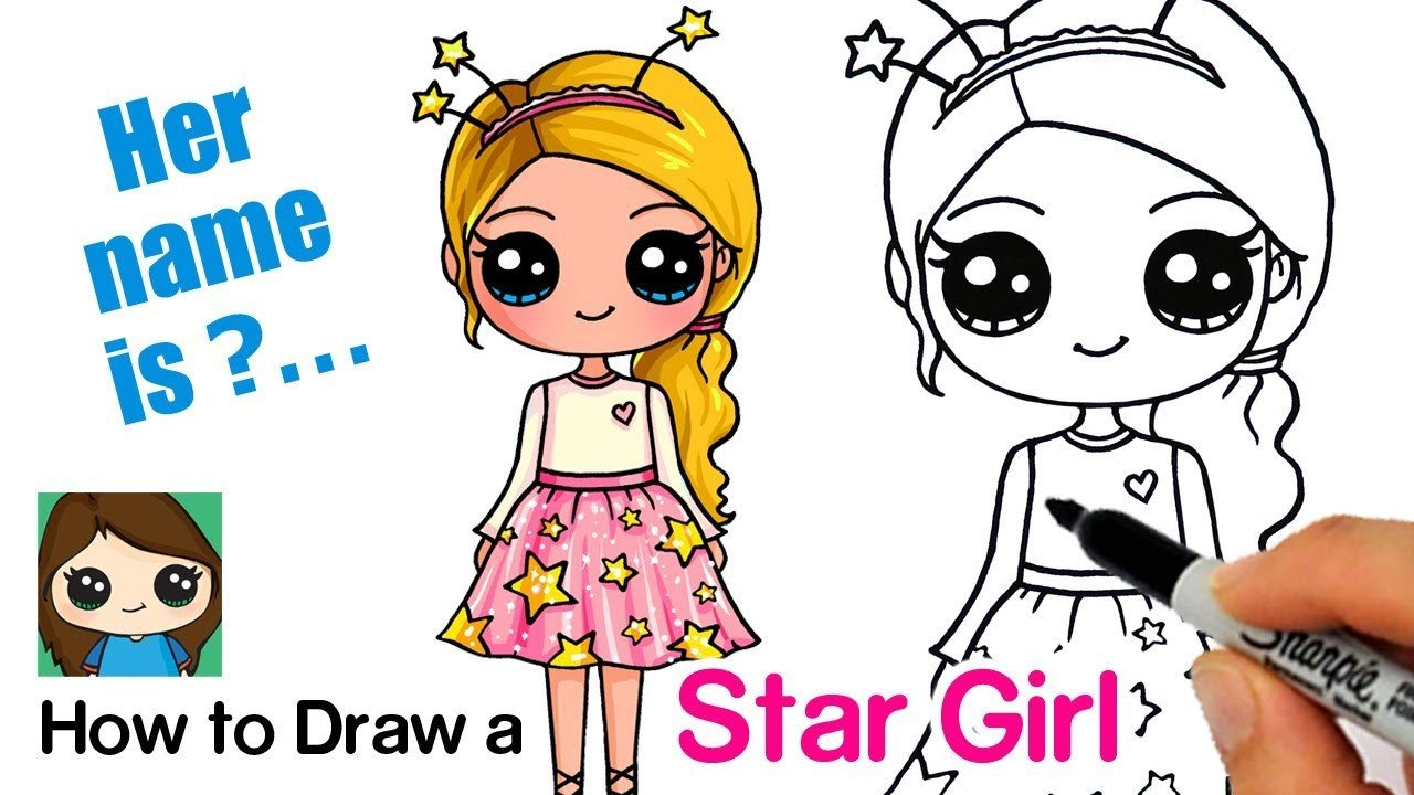 Cute Drawings Of Girls How to Draw A Starshine Sparkle Cute Girl
