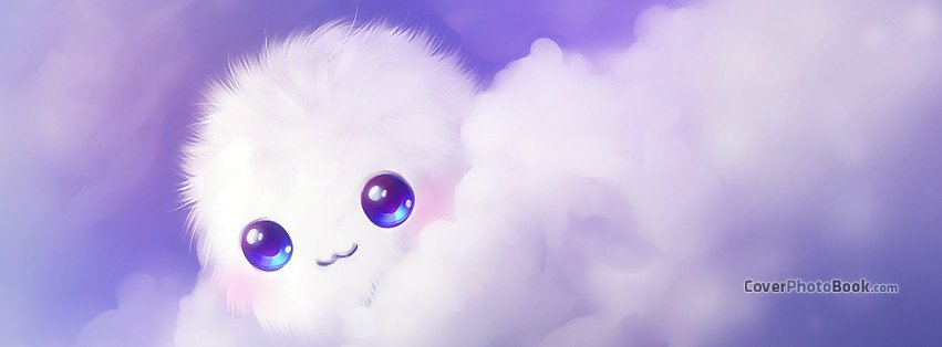 Cutest Fb Cover Photos Cute Kawaii Puffball Clouds Cover Characters