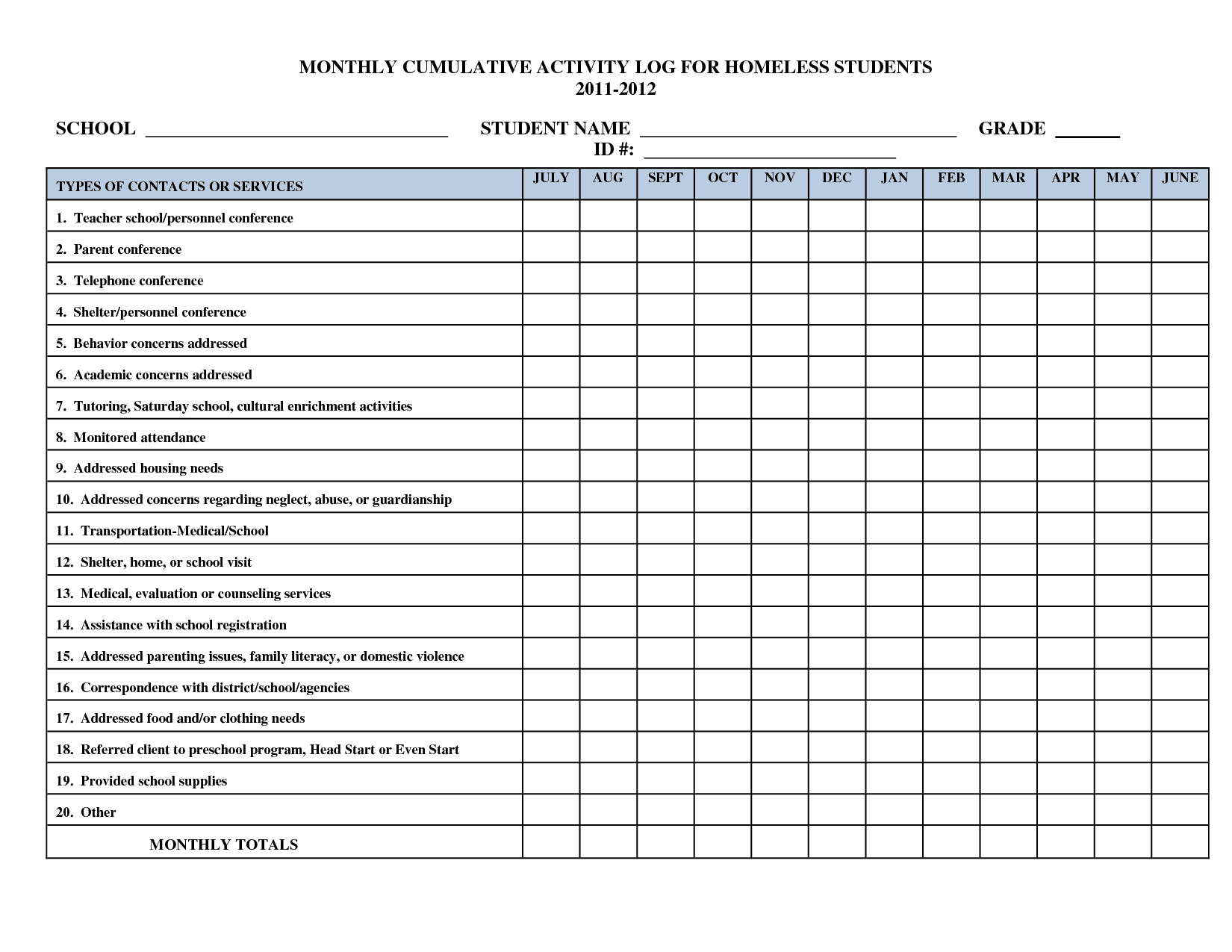Daily Activity Log Template Activity Log Templates Word Excel Pdf formats