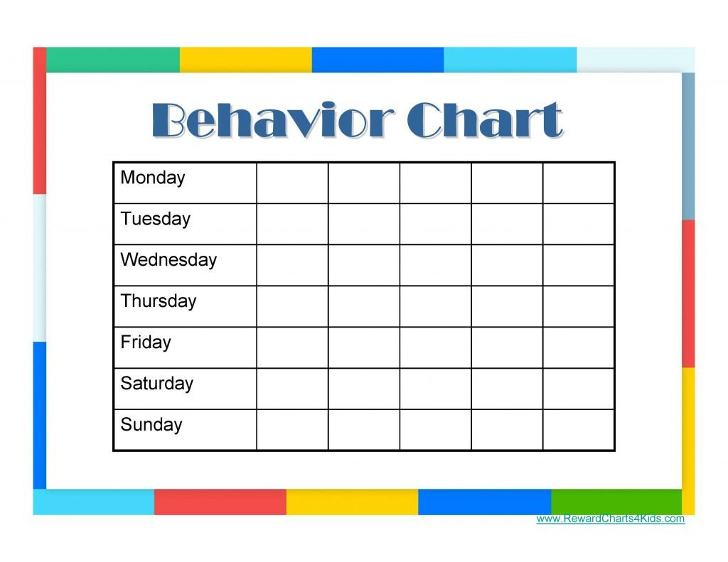 Daily Behavior Chart Template 9 Free Behavior Chart Template Word Pdf Docx