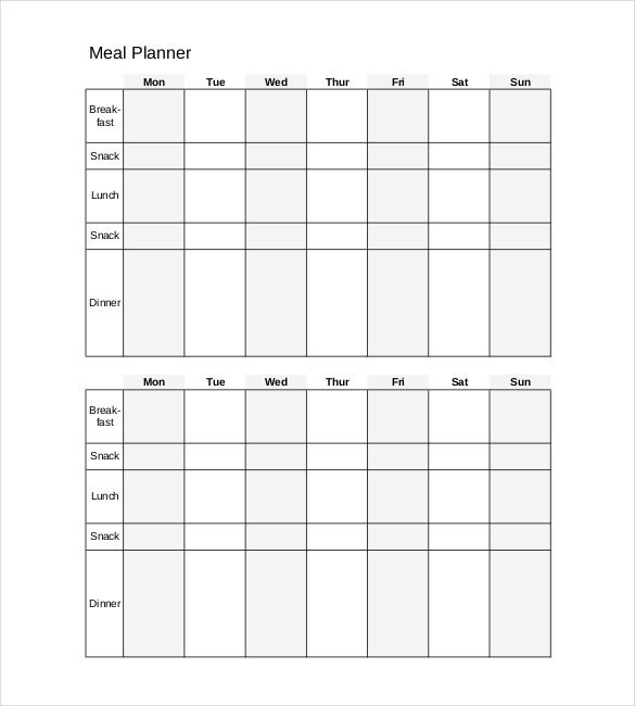 Daily Meal Plan Template 30 Daily Planner Templates Pdf Doc