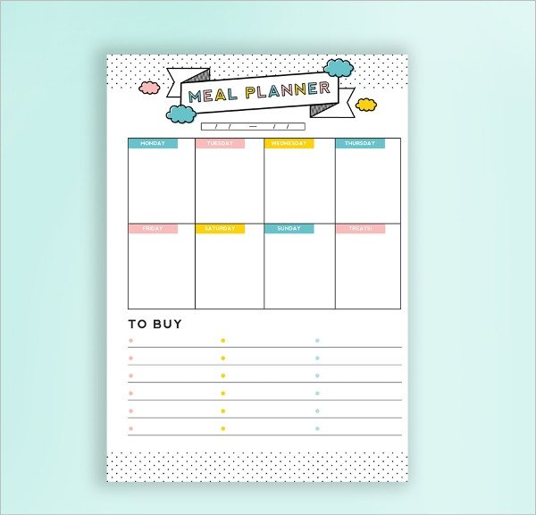 Daily Meal Plan Template 5 Daily Bud Planner Templates Free Sample Example