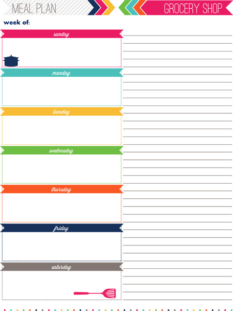 Daily Meal Plan Template Iheart organizing My 2013 Daily Planner
