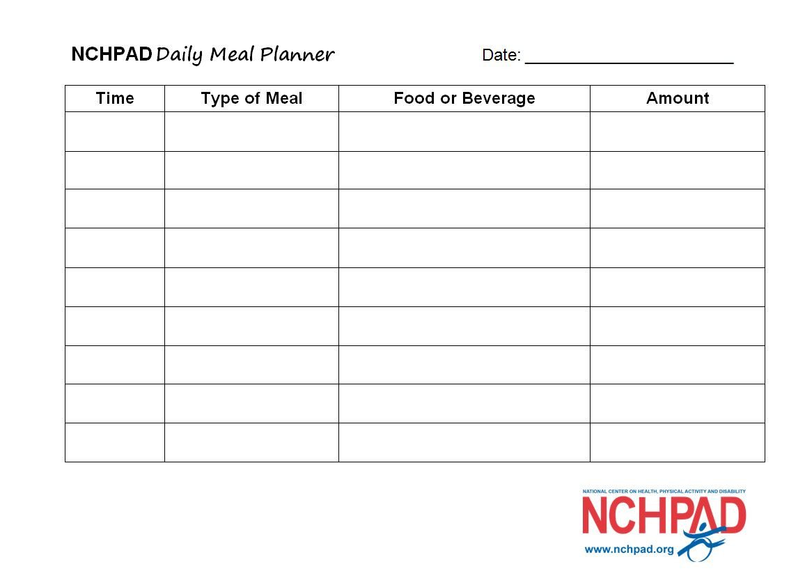 Daily Meal Plan Template Nchpad Daily Meal Planner Template Nchpad Building