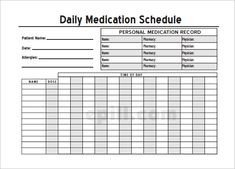 Daily Medication Chart Template Home Medication Chart Template Free Daily Medication