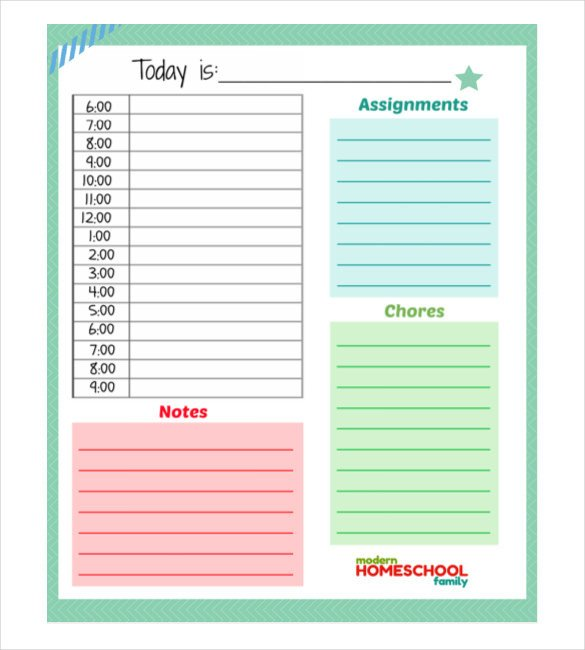 Daily Planner Template Excel 30 Daily Planner Templates Pdf Doc