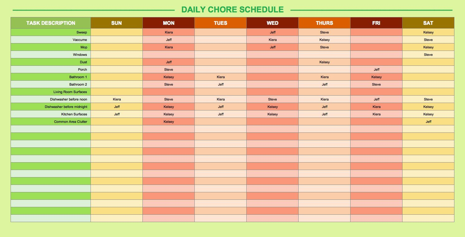 Daily Routine Schedule Template Free Daily Schedule Templates for Excel Smartsheet