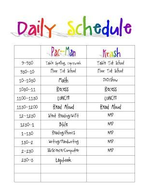 Daily Routine Schedule Template Printable Daily Routine Schedule Template Clipart