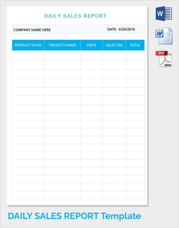 Daily Sales Report Template Sample Daily Work Report Template 22 Free Documents In