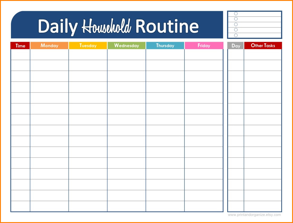 Daily Schedule Template Printable Daily Schedule Maker