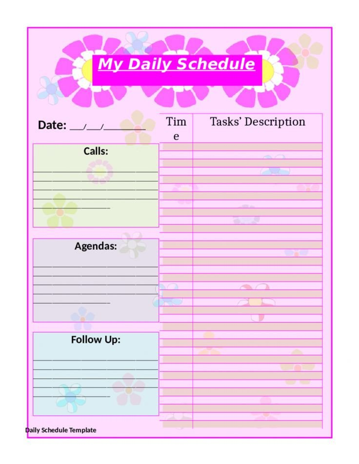 Daily Schedule Template Printable top 25 Best Daily Schedule Template Ideas On Pinterest