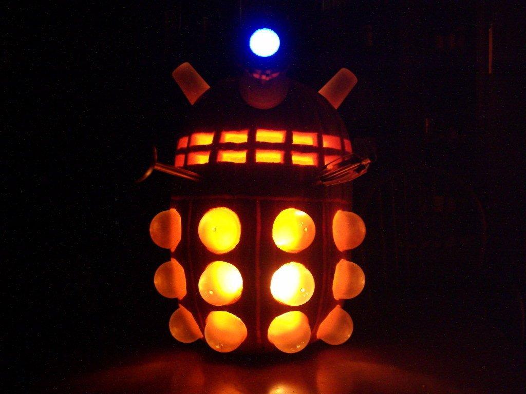 Dalek Pumpkin Stencil Doctor who Dalek Halloween Dr who Daleks Pumpkin