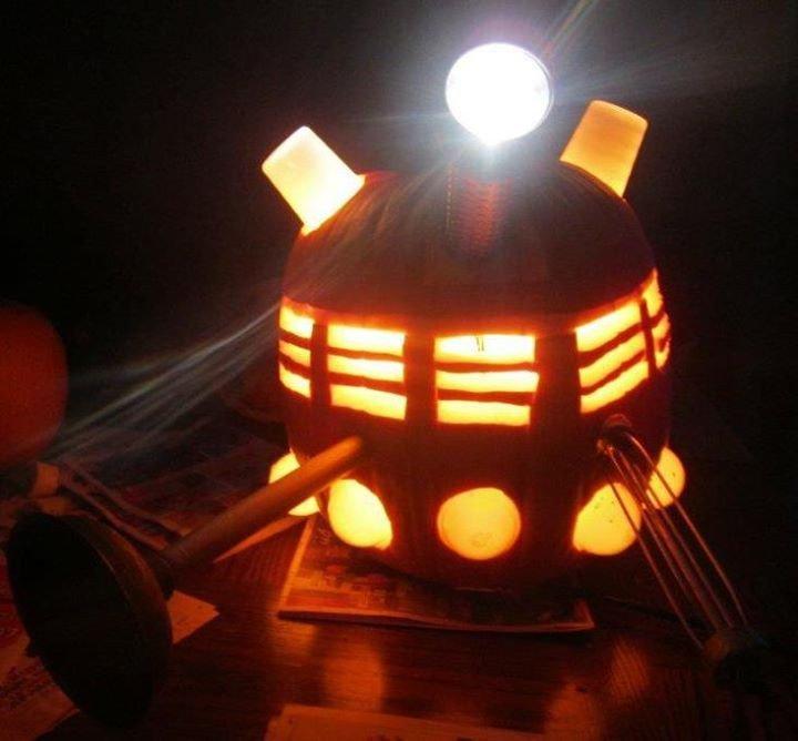 Dalek Pumpkin Stencil Doctor who Dalek Pumpkin Carving Doctor who