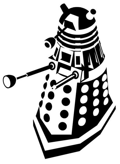 Dalek Pumpkin Stencil Doodle Craft Doctor who Silhouette Stencils