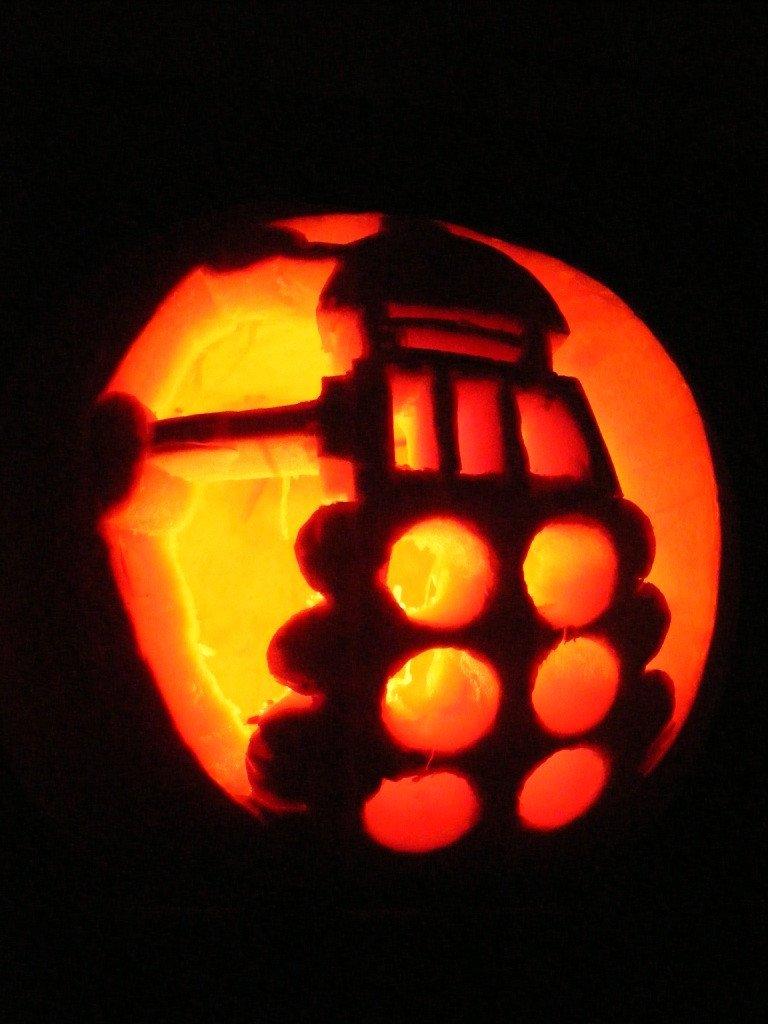 Dalek Pumpkin Stencil Halloween Vince S Dark Delights October 2010