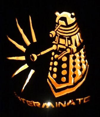 Dalek Pumpkin Stencil Werewolf the Apocalypse