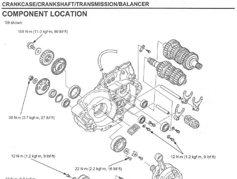 Db450 form Part C Service Manual 2009 2012 Honda Crf450r Frank Mxparts