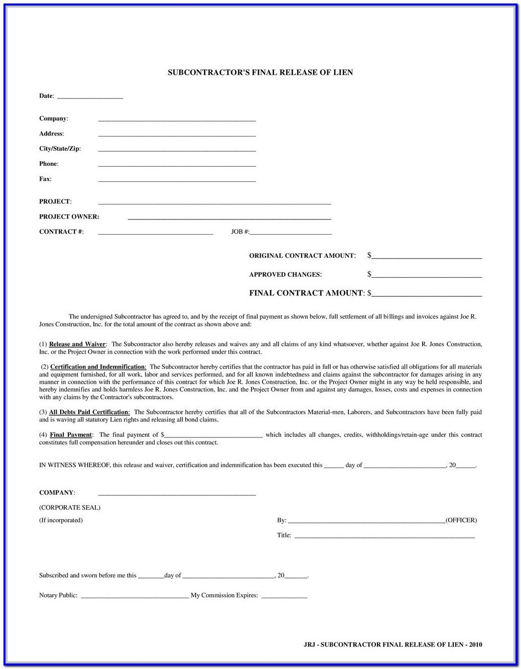 Db450 form Part C Subcontractor Lien Waiver form Georgia form Resume