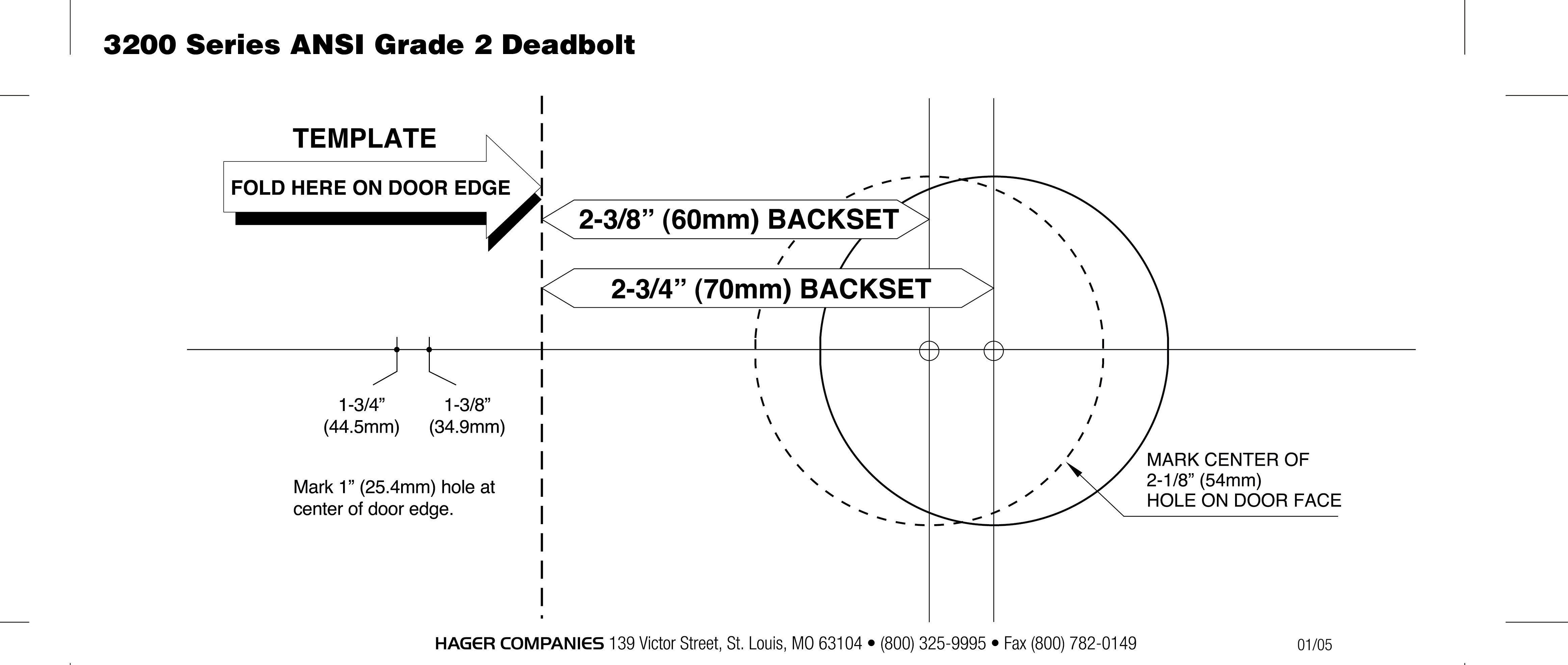 Deadbolt Installation Template Door Backset Template & Router Working Through Spaces In