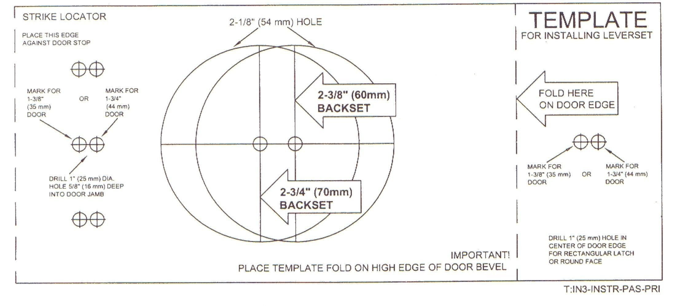 Deadbolt Installation Template Door Knob Hole Template Google Search