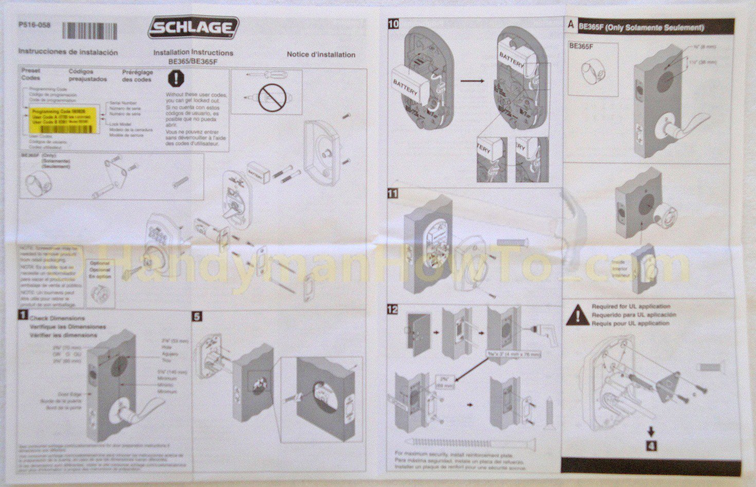 Deadbolt Installation Template How to Install A Schlage Keypad Deadbolt