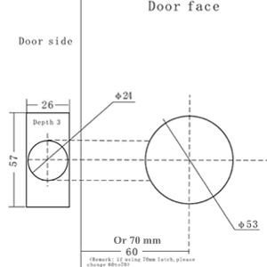 Deadbolt Installation Template Template for Door Knob Hole