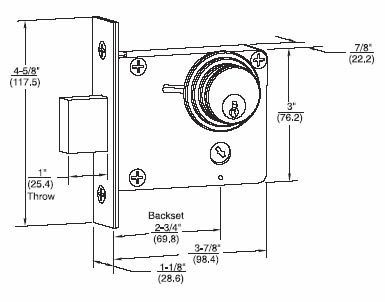 Deadbolt Installation Template Yale 314 1 4 Double Cylinder Auxiliary Mortise Deadbolt