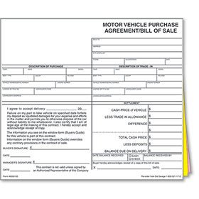 Dealer Bill Of Sale Auto Dealer Supplies & Dealership Advertising