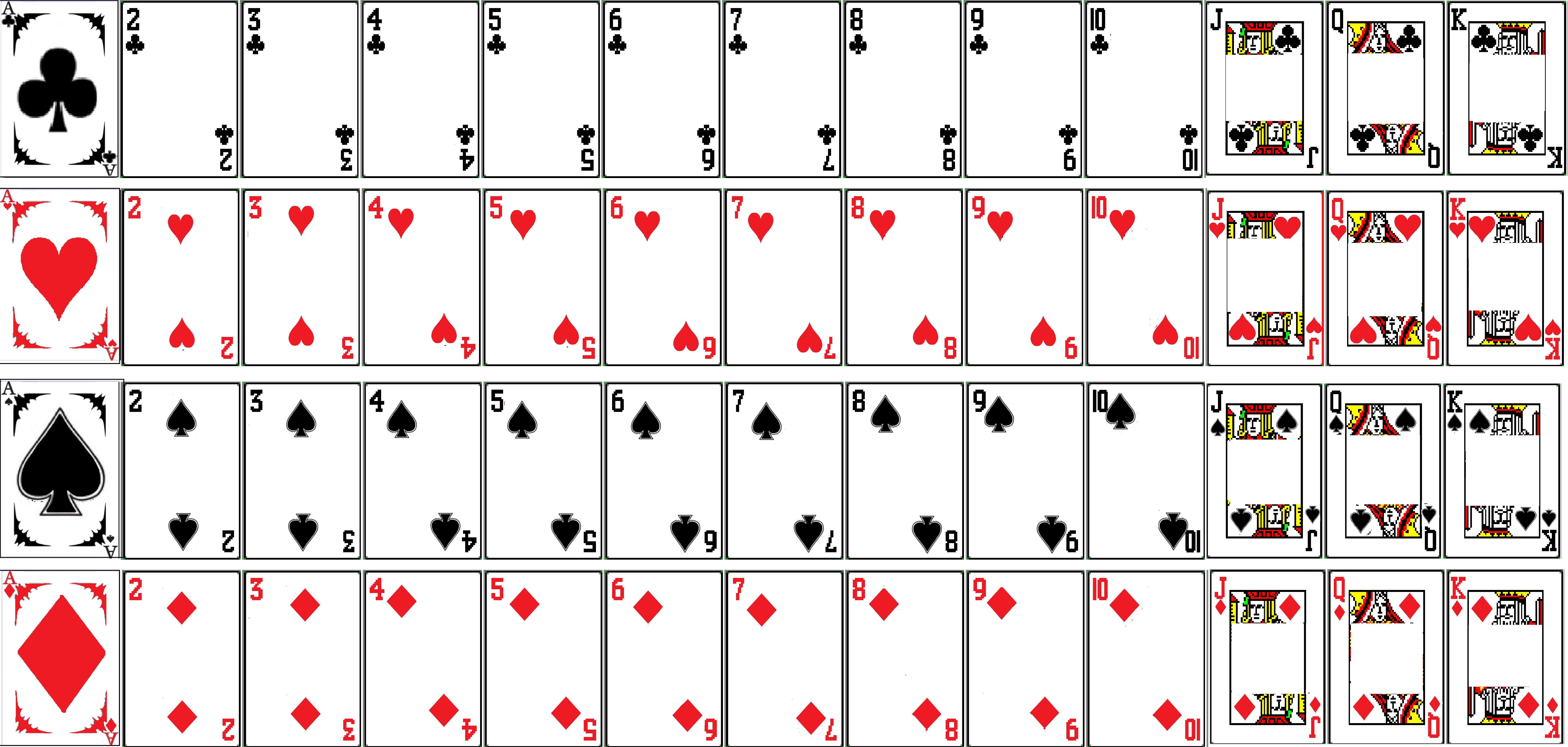 Deck Of Cards Template Not Learning Spider solitaire Flashcards