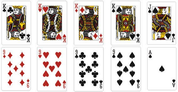 Deck Of Cards Template Playing Card Vector Template