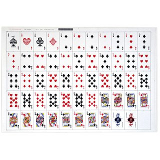 Deck Of Cards Template Uncut Sheet Bridge Playing Cards