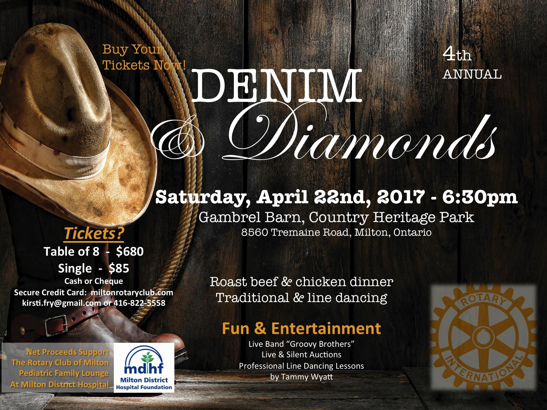 Denim and Diamonds Flyer 2017 Rotary Denim & Diamonds Spring Gala