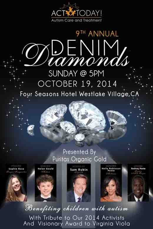 Denim and Diamonds Flyer 9th Annual Denim & Diamonds for Autism